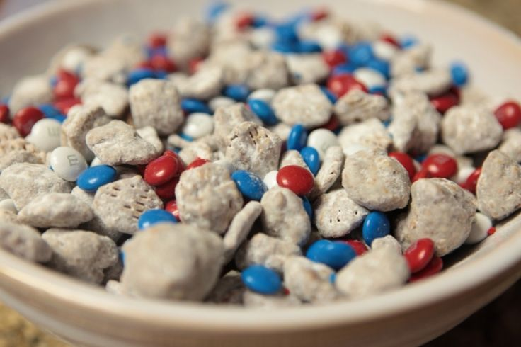 4th of July Nutella Patriotic Puppy Chow