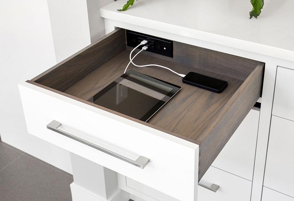 Digital Detox Tips | cabinet solutions with hidden charging