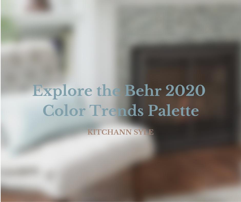 Behr Reveals 2020 Color Trends Palette inspiration