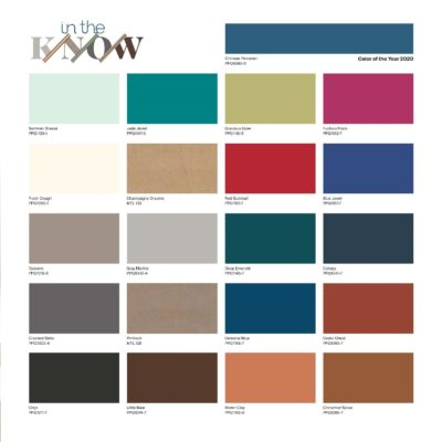 PPG color of the year 2020 - global color palette In the Know