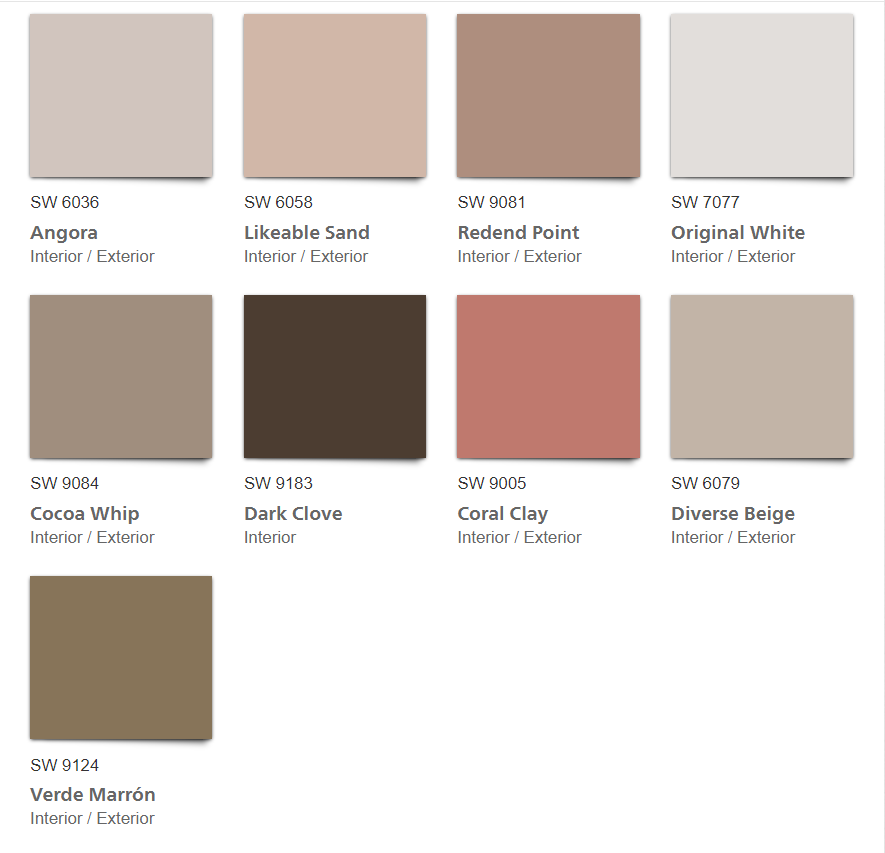Heart 2020 Color Palette color chips